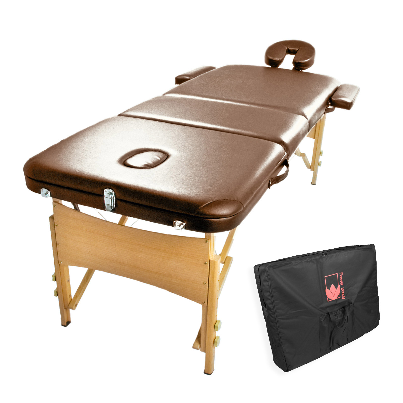 Wooden Portable Massage Table 70cm - BROWN