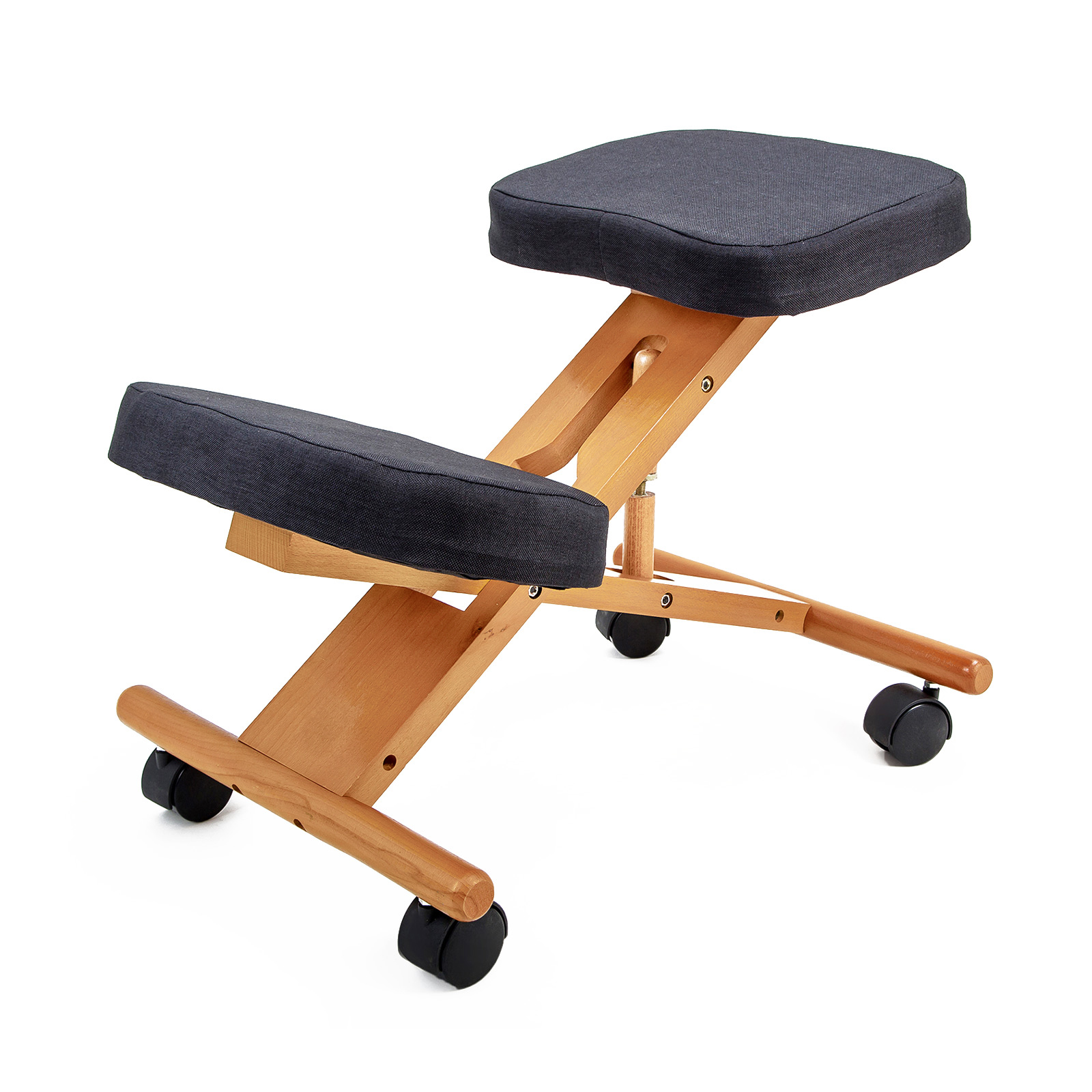 Ergonomic Kneeling Chair Black Forever Beauty