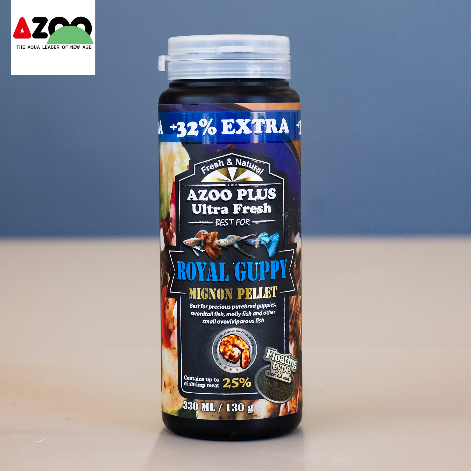 AZOO Royal Guppy Mignon Pellet 330ml/130g