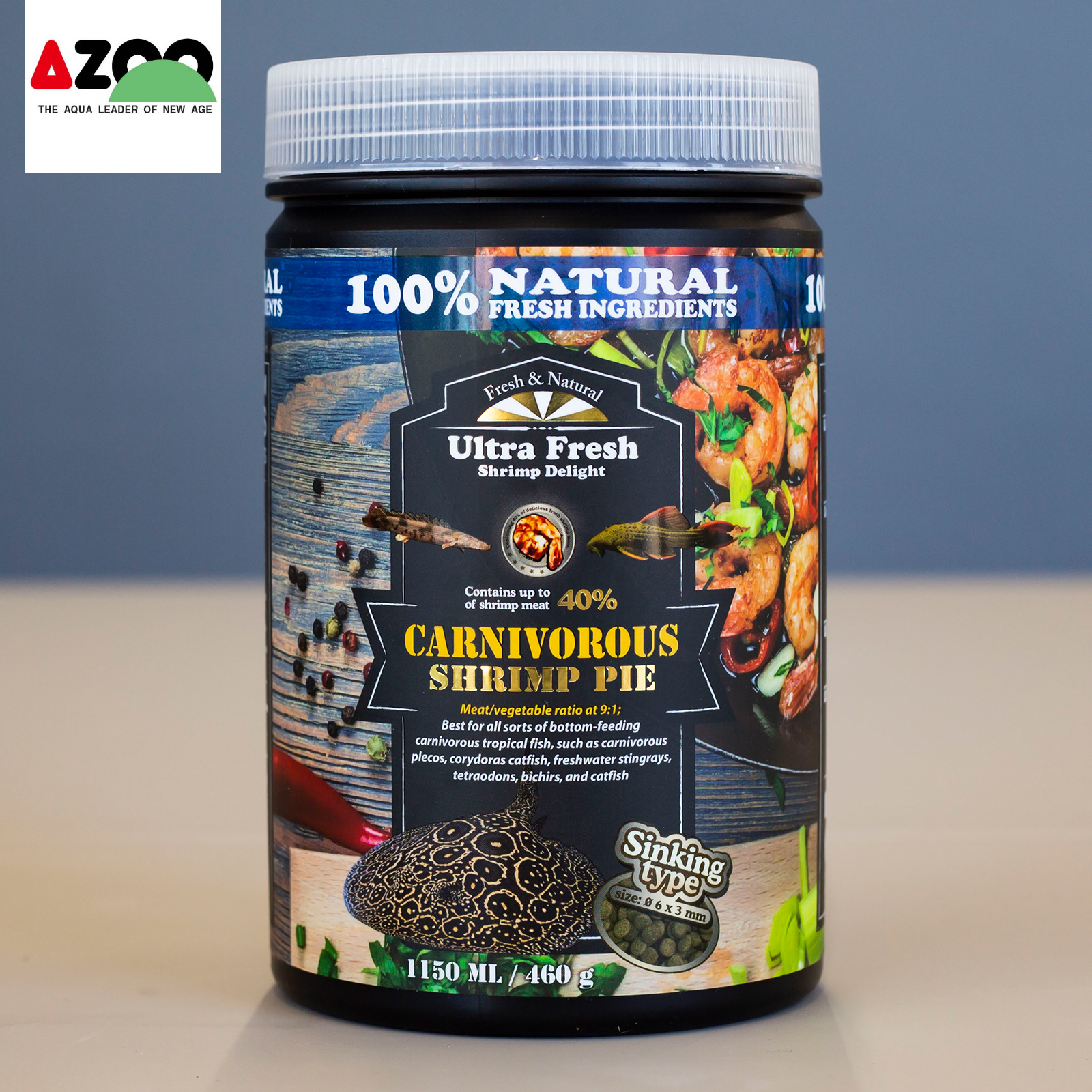 AZOO Carnivorous Shrimp Pie 1150ml/460g