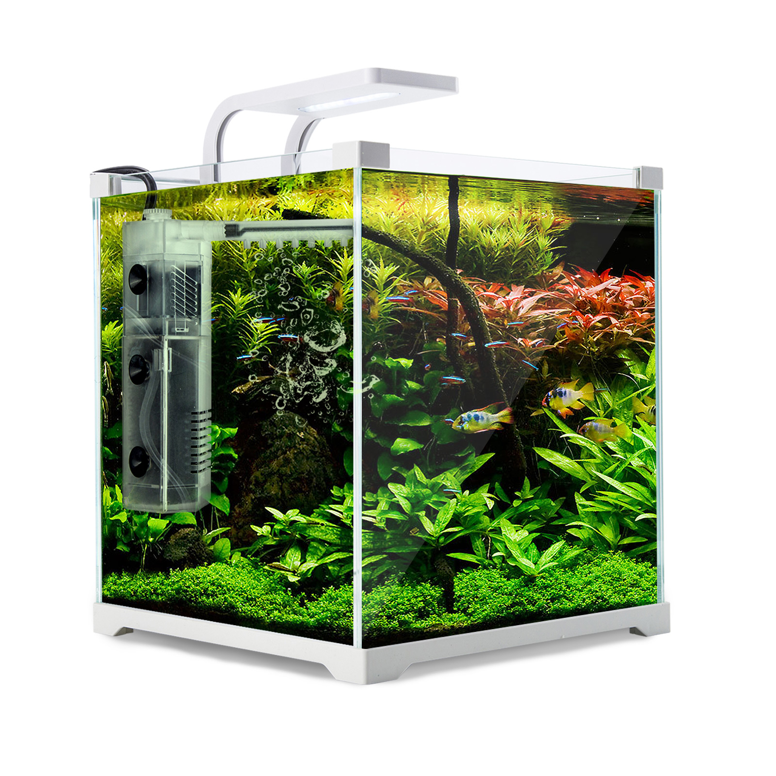 Aquarium Starfire Glass Aquarium Fish Tank 16L