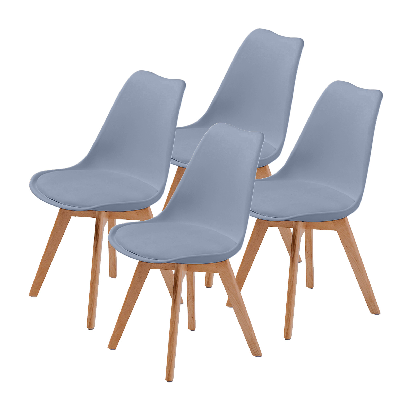 4X Padded Seat Dining Chair - GREY