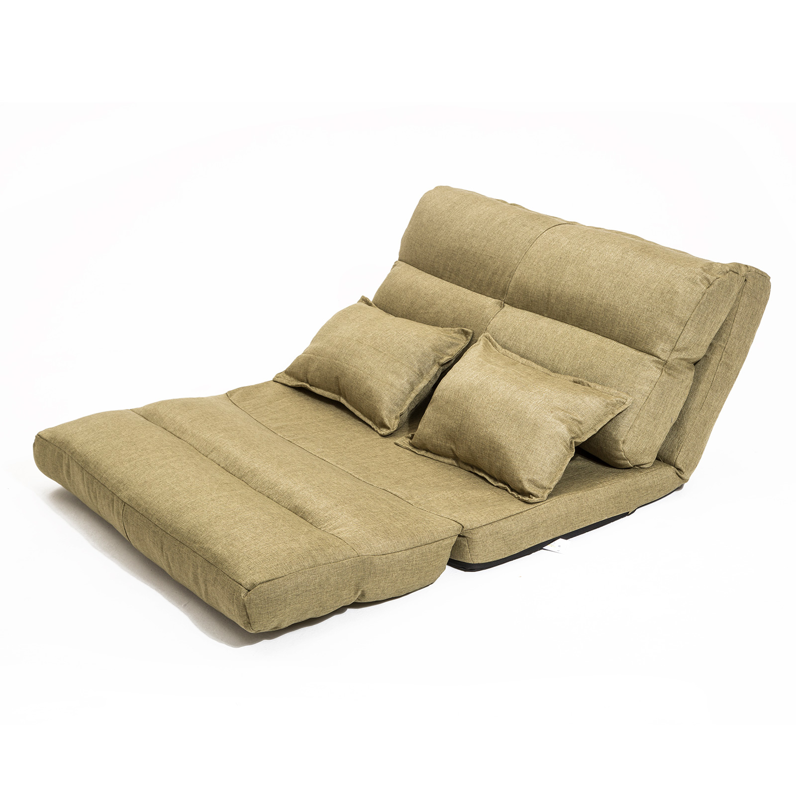 Lounge Sofa Fabric Double Bed PISCES - KHAKI