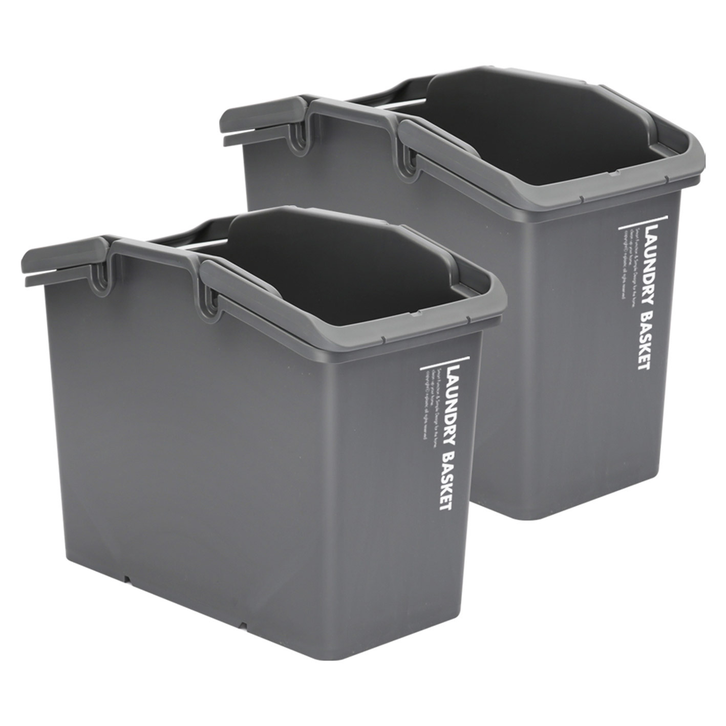 2X Multipurpose Laundry Basket - DARK GREY