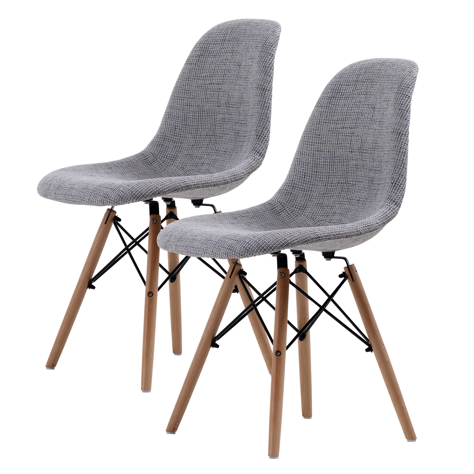 2X DSW Dining Chair Fabric - GREY