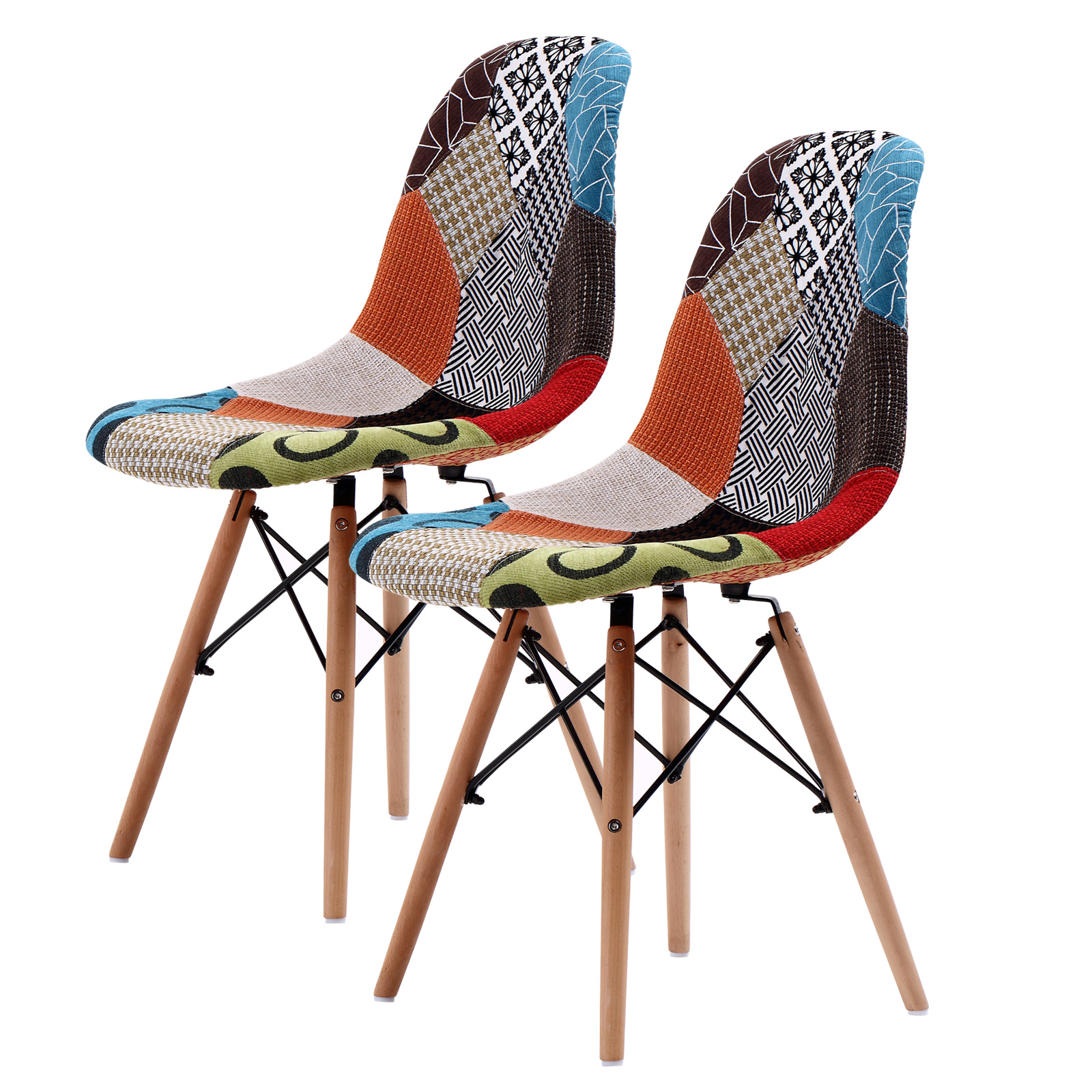 Replica Eames DSW Dining Chair - MULTI-COLOUR X2