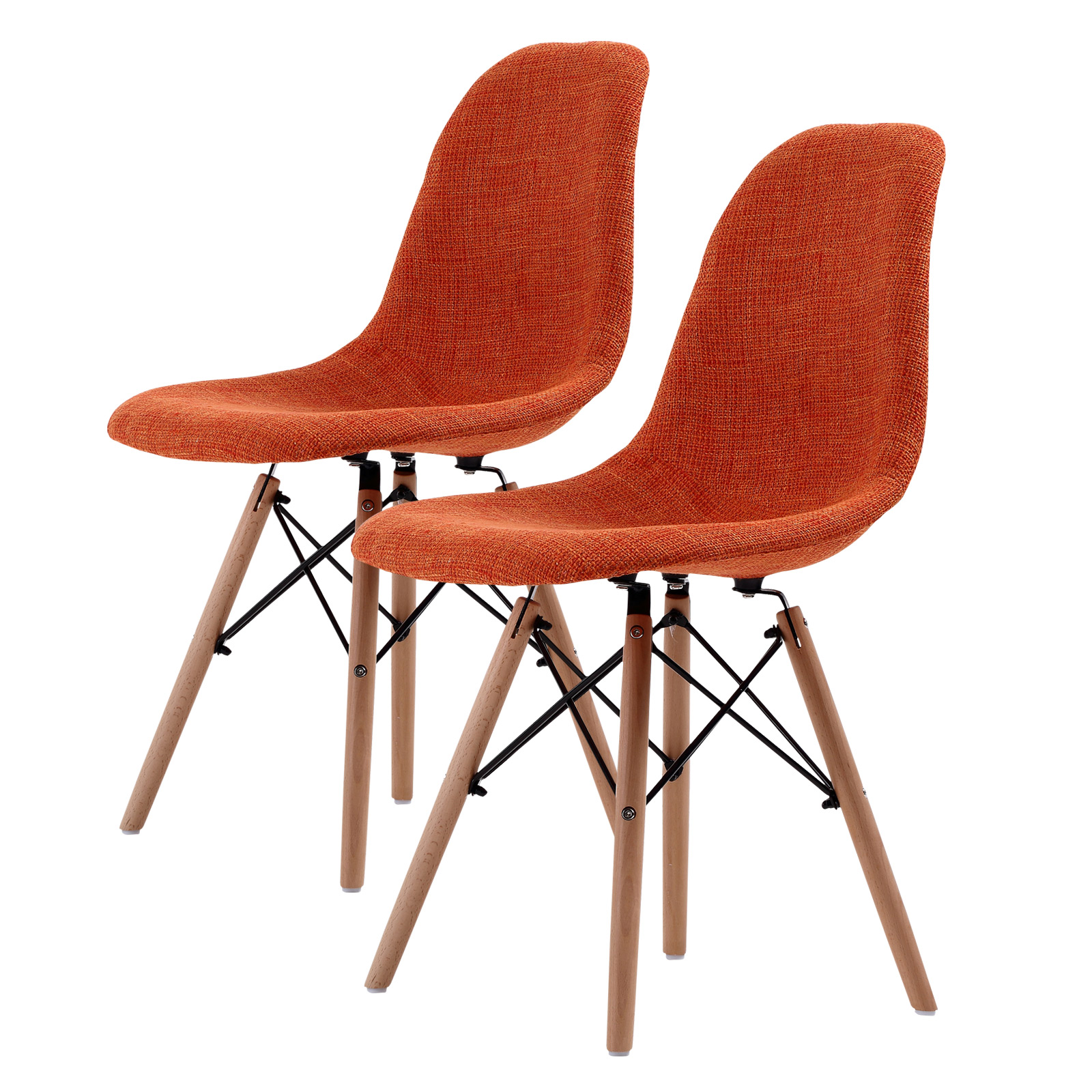 2X DSW Dining Chair Fabric - ORANGE