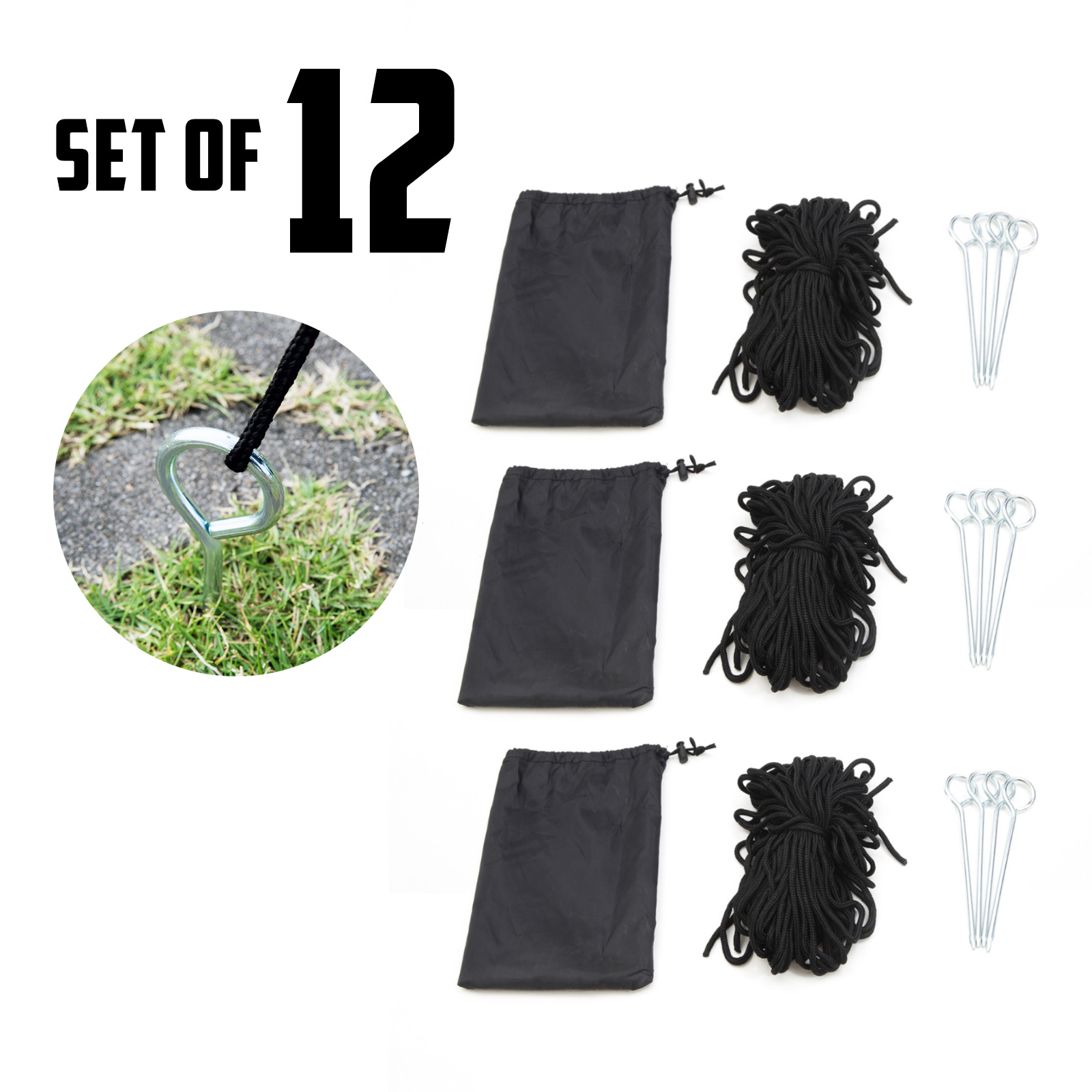 12X Gazebo Rope Set