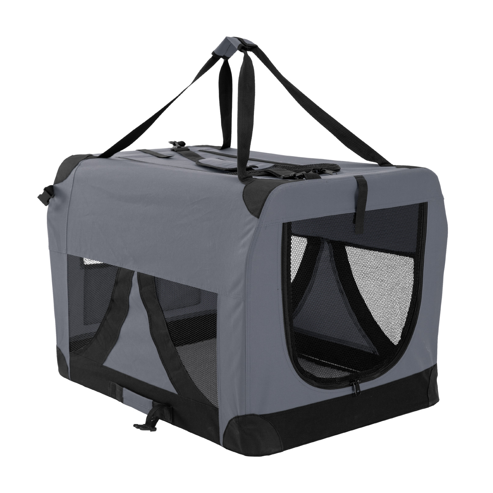 Portable Soft Dog Crate Xl Grey Paw Mate