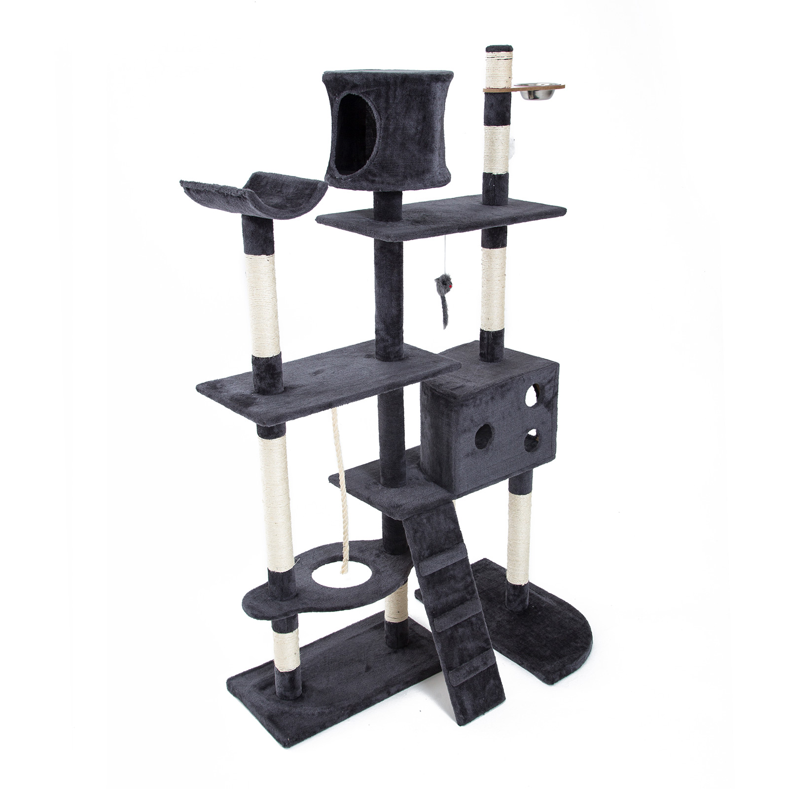 Cat Tree Scratcher DANIE 170 cm - GREY