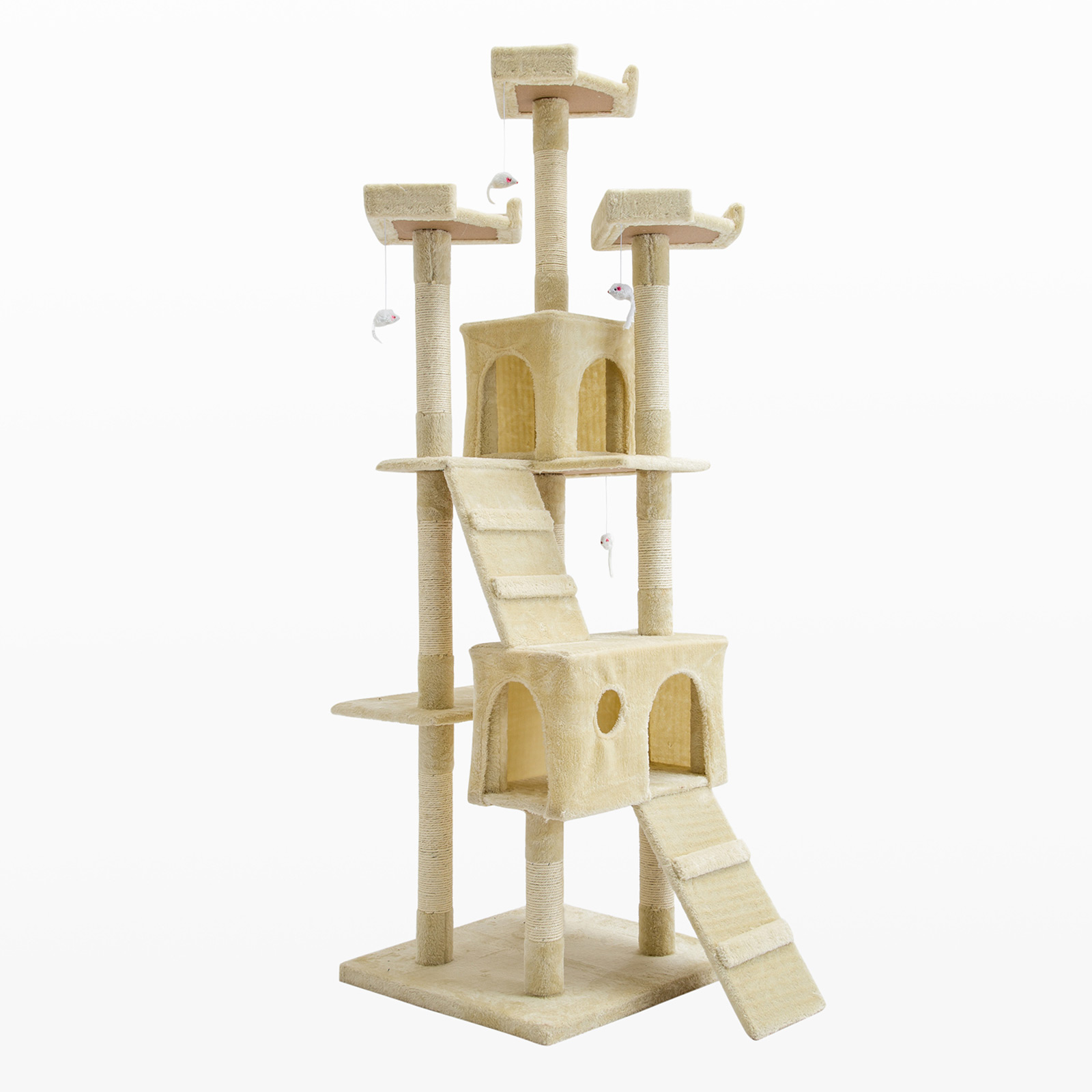 180cm Cat Tree Scratcher JUMBO - BEIGE