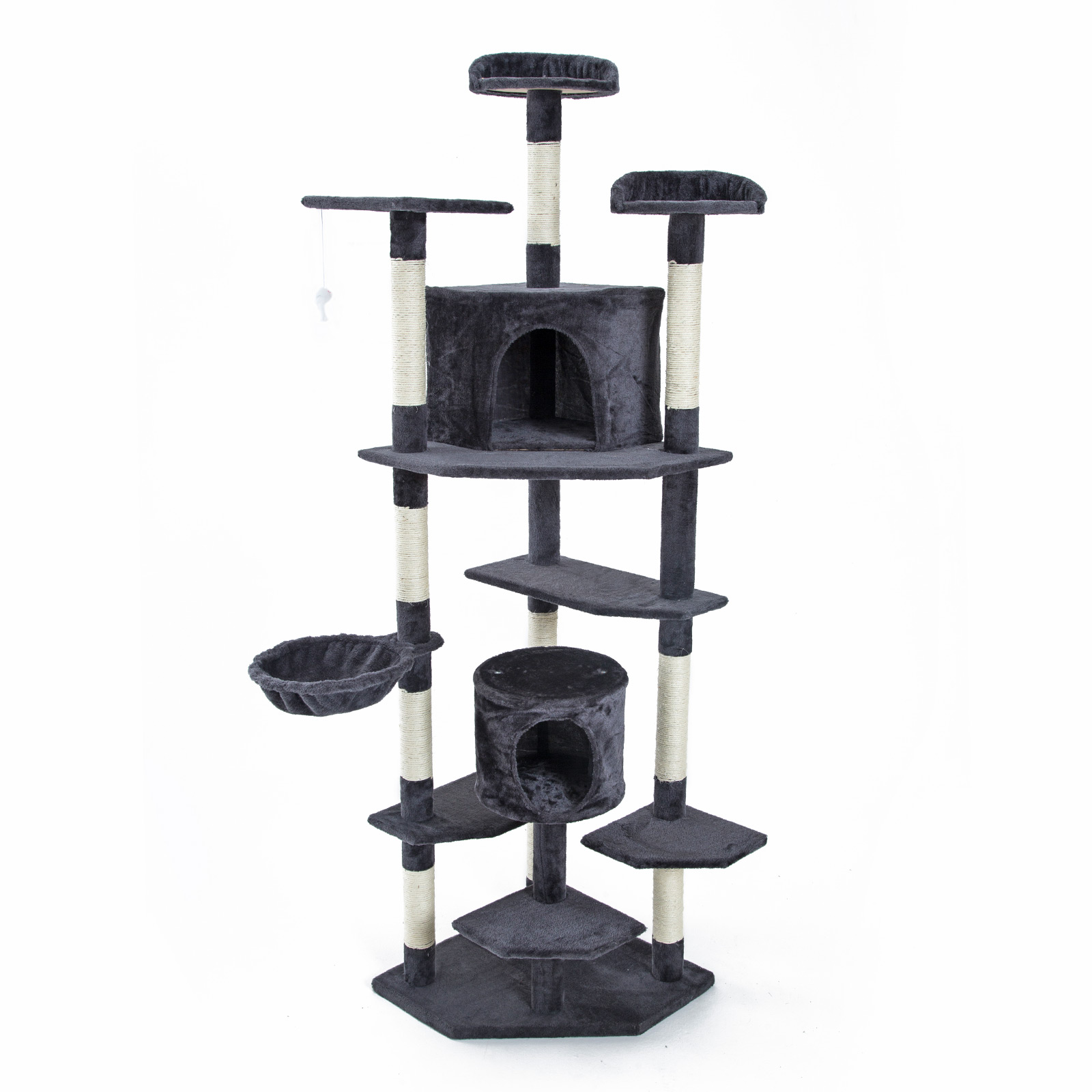 201cm Cat Tree Scratcher PARALA - GREY