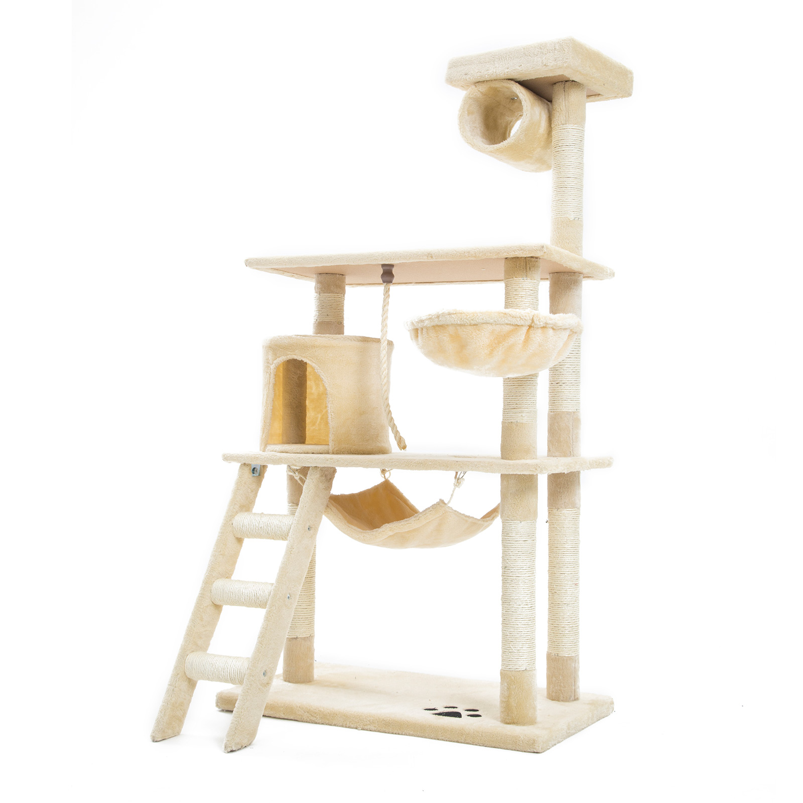 Cat Tree Scratcher MAPLE 140cm - BEIGE