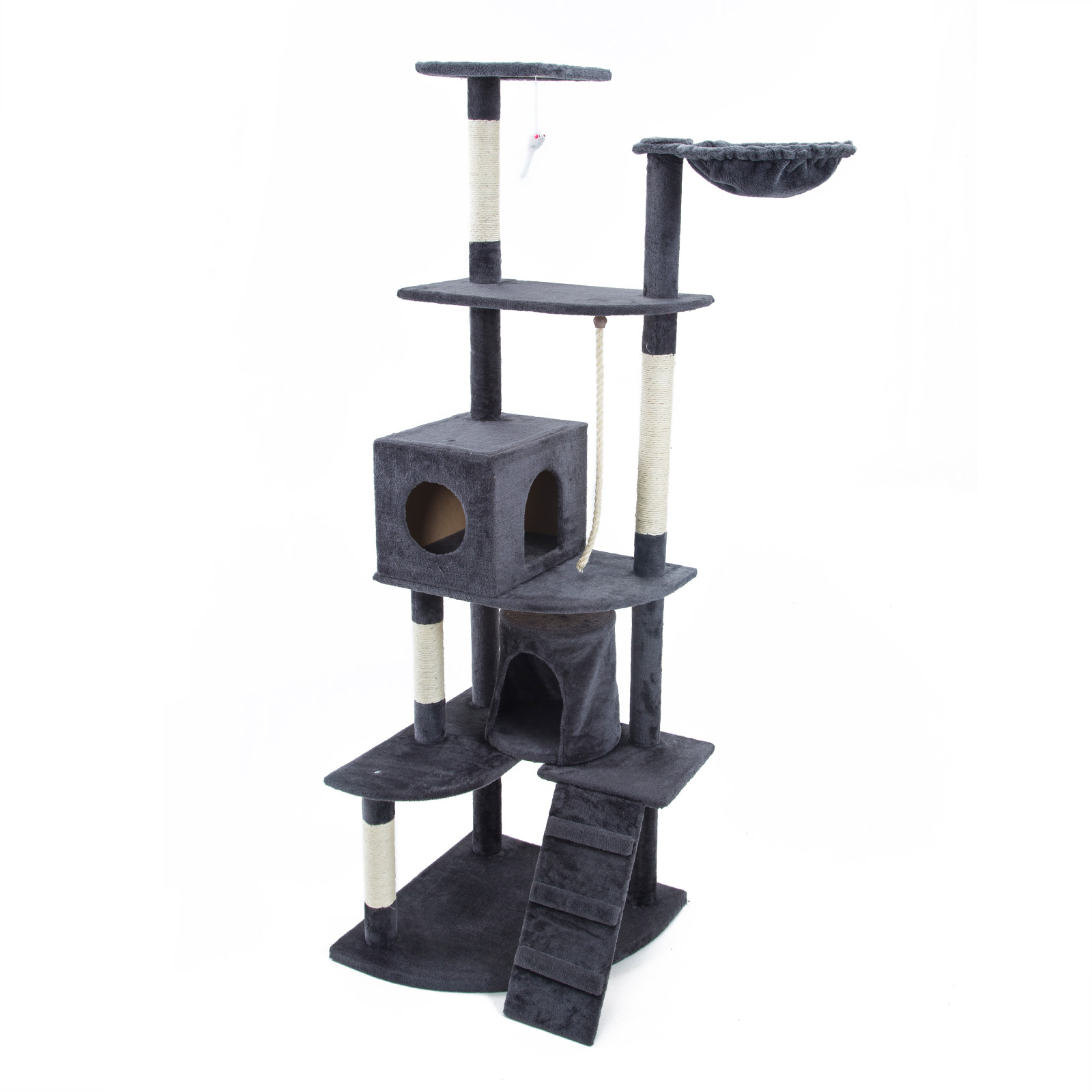 Cat Tree Scratcher ACACIA 190 cm - GREY