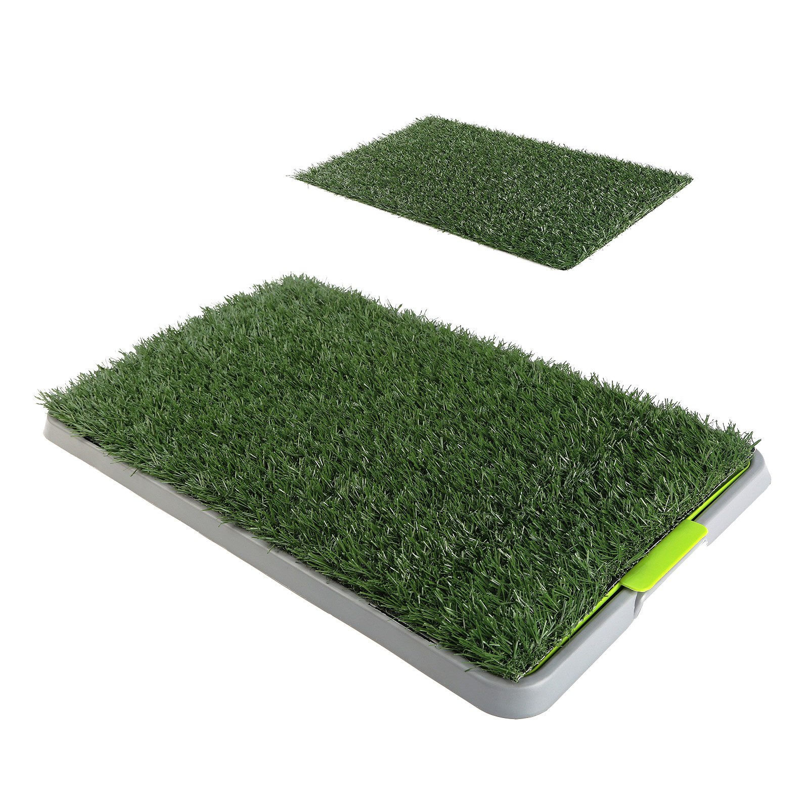 Pet Potty Training Pad Tray 69 x 43cm - 2 Grass Mat