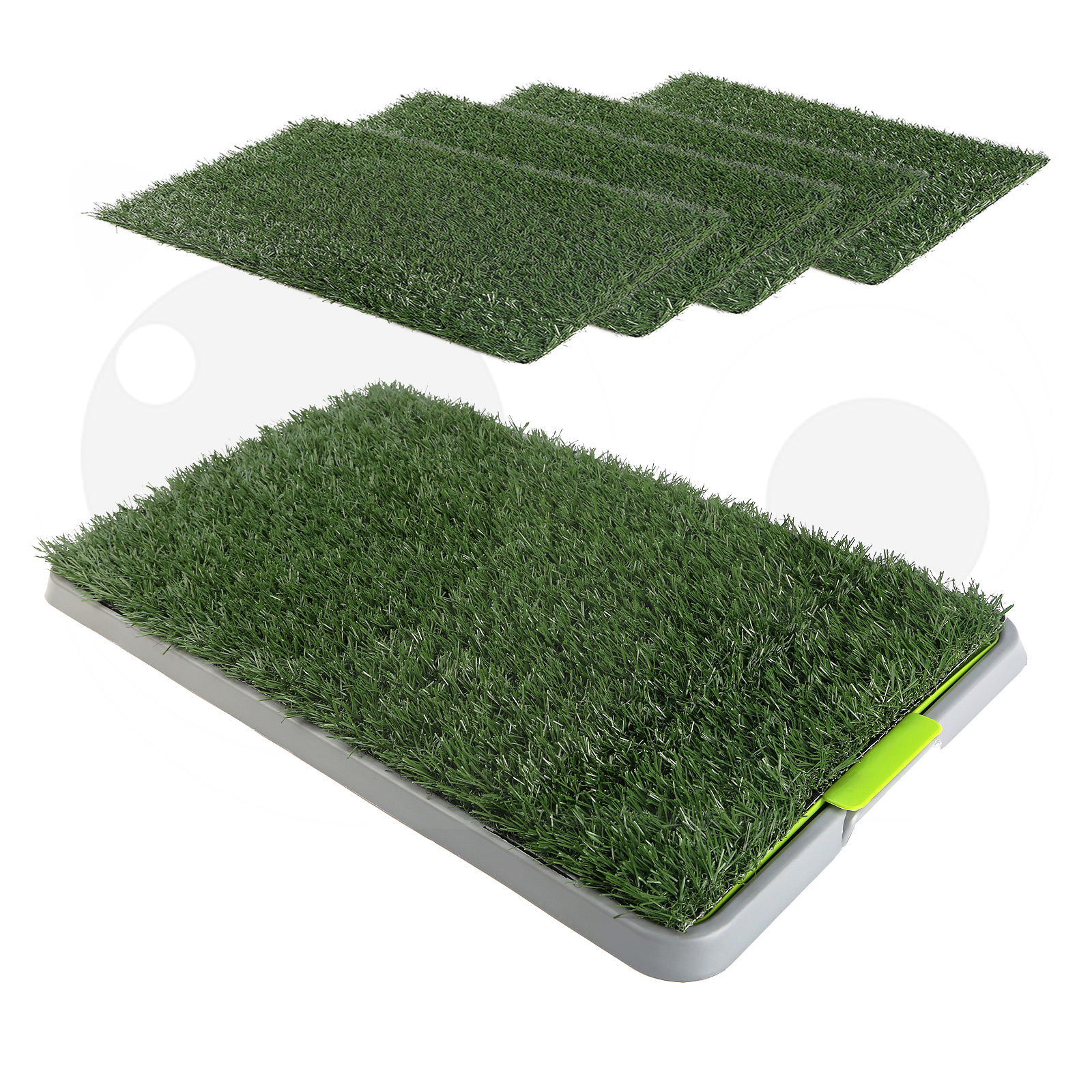 Pet Potty Training Pad Tray 69 x 43cm - 1 / 2 / 4  Grass Mat
