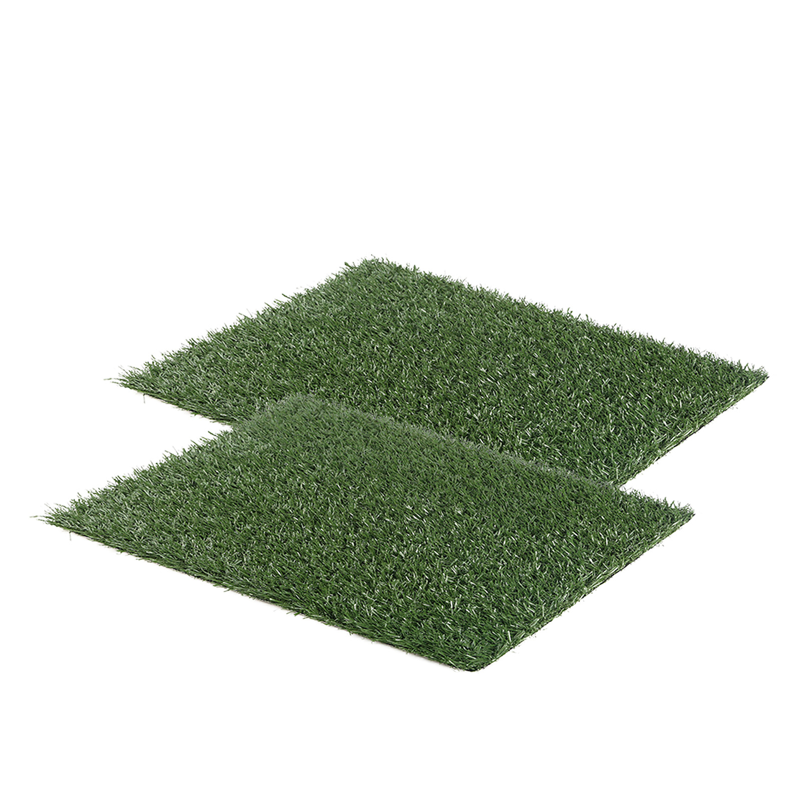 Pet Potty Training Pad Tray L 63 x 50cm - 2 Grass Mat Only