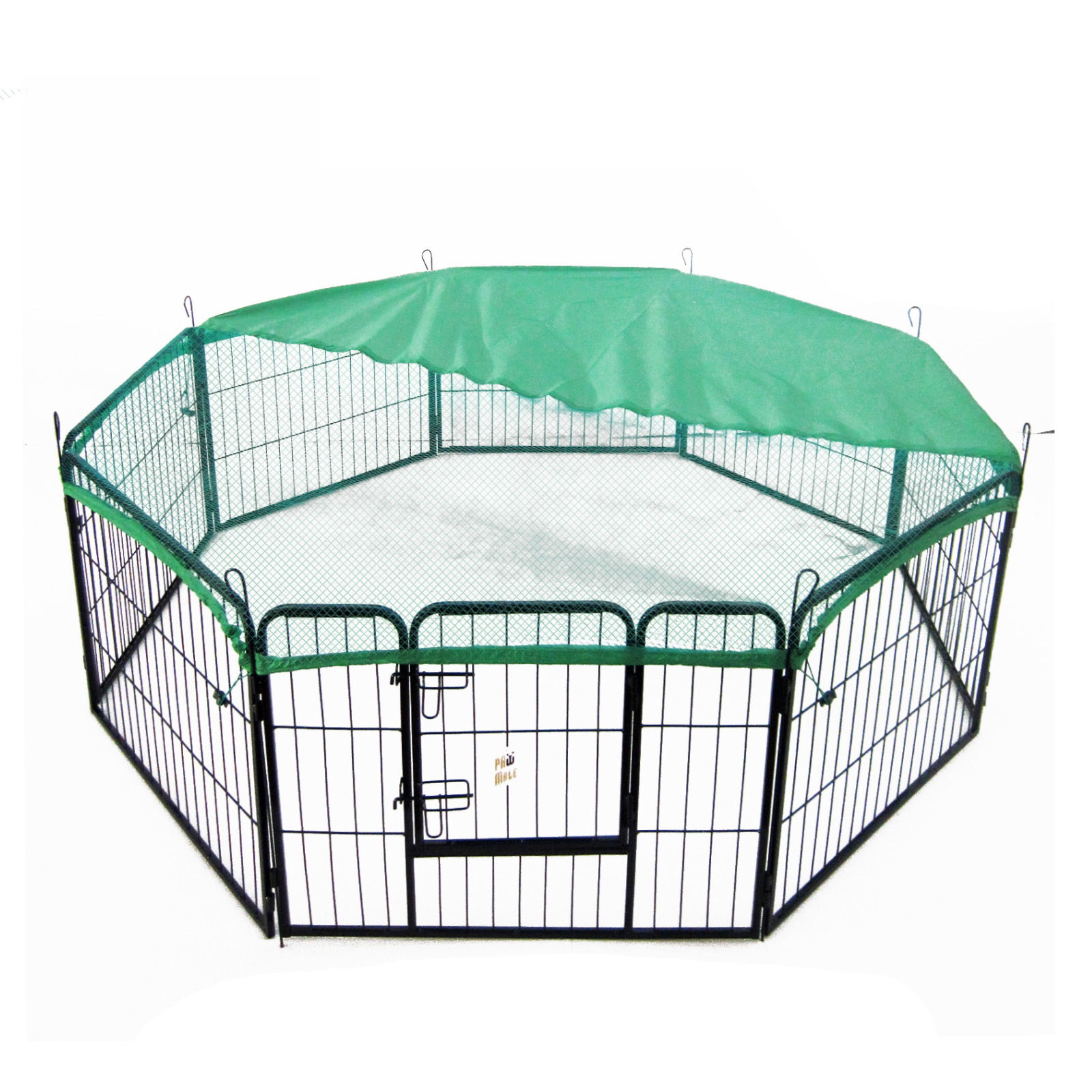 "32"" Heavy Duty 8 Panel Foldable Pet Playpen With Cover"