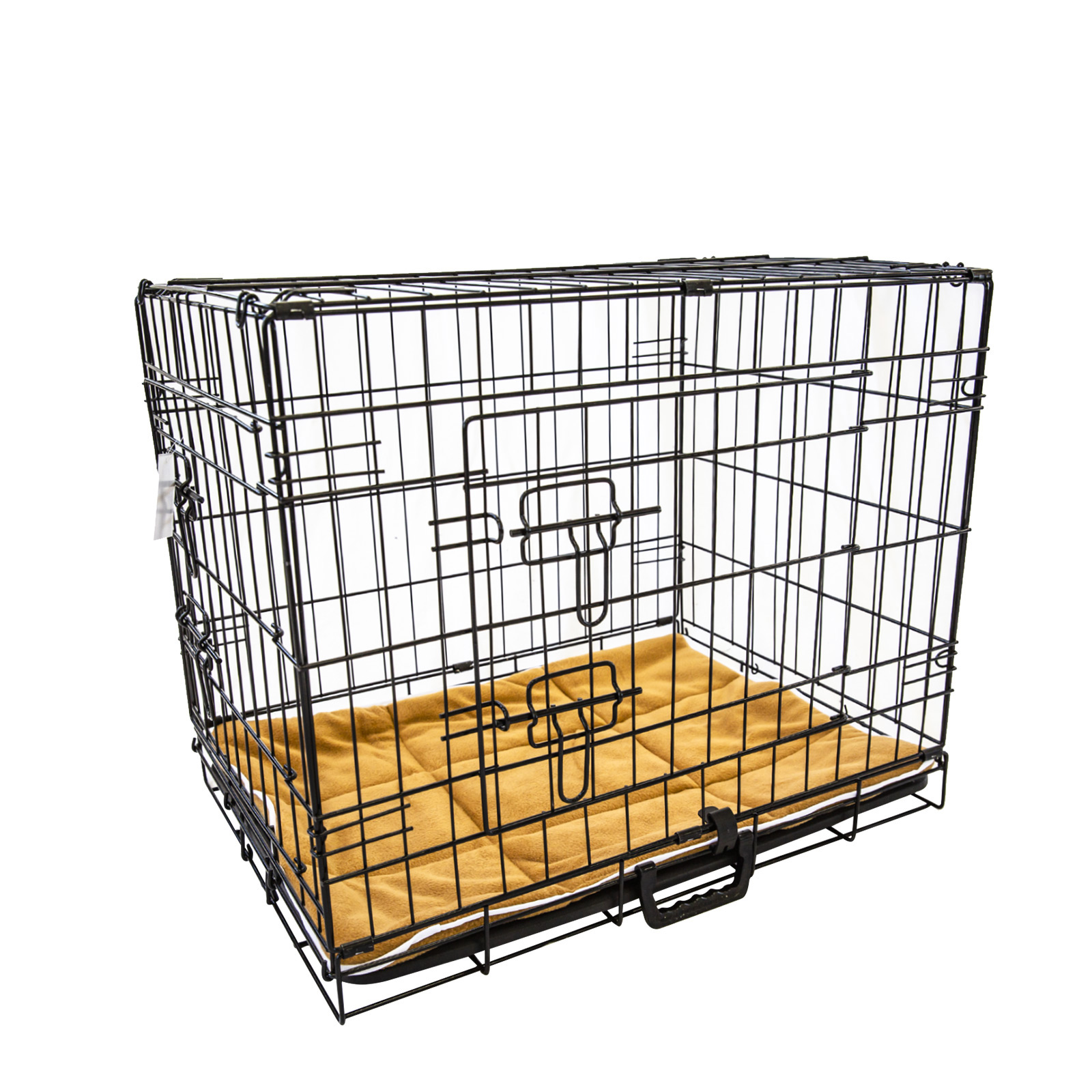"36"" Foldable Wire Dog Cage with Tray + Cushion Mat"