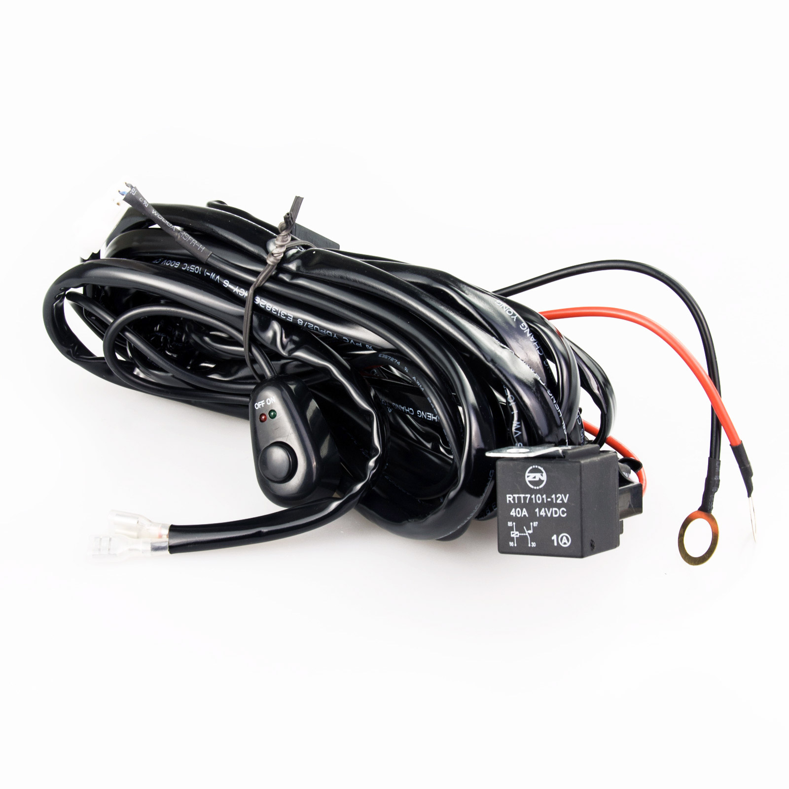 Car LED Wiring Relay Kit 12V 40A 300W with Switch