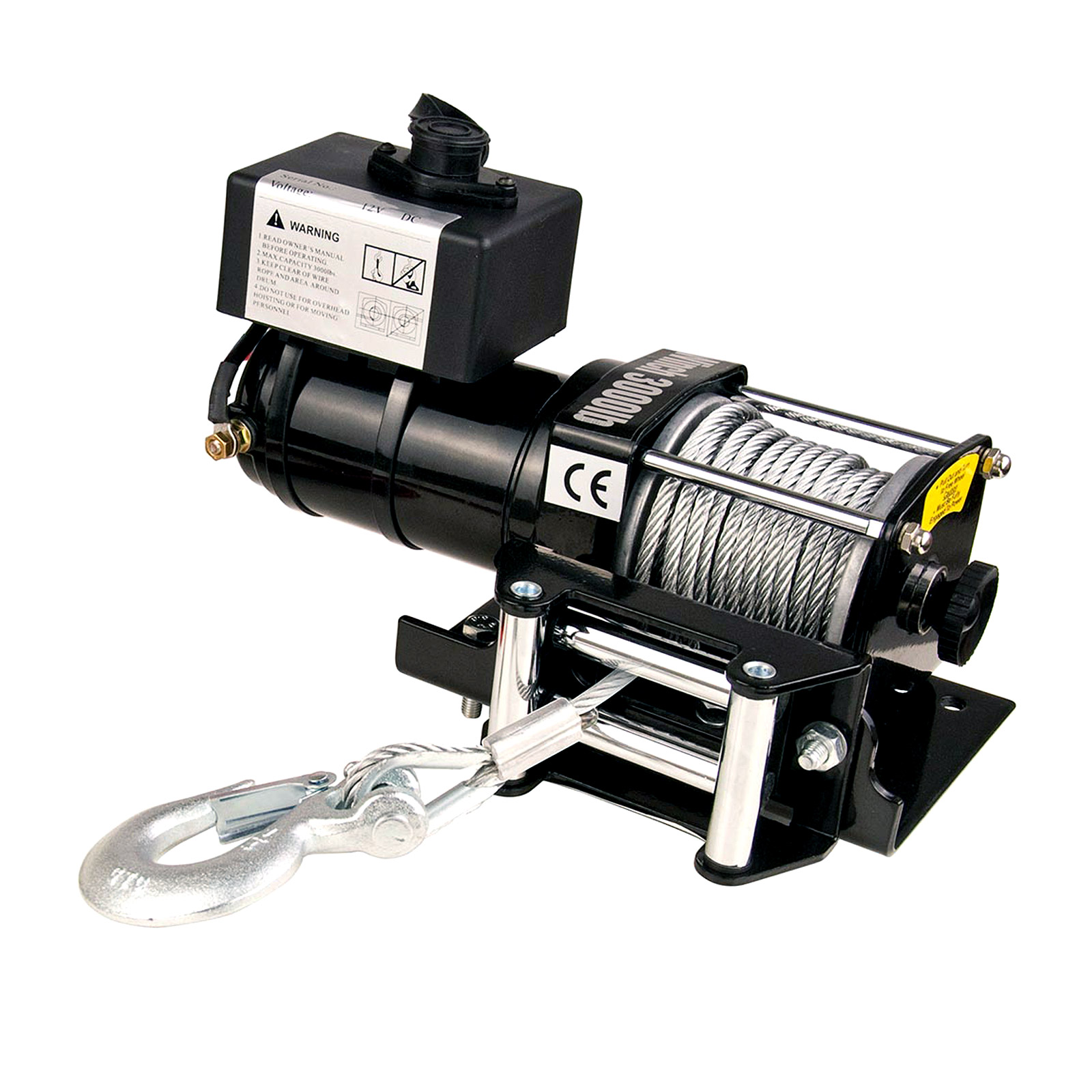 12V 3000LBS Electric Winch with Wireless Remote