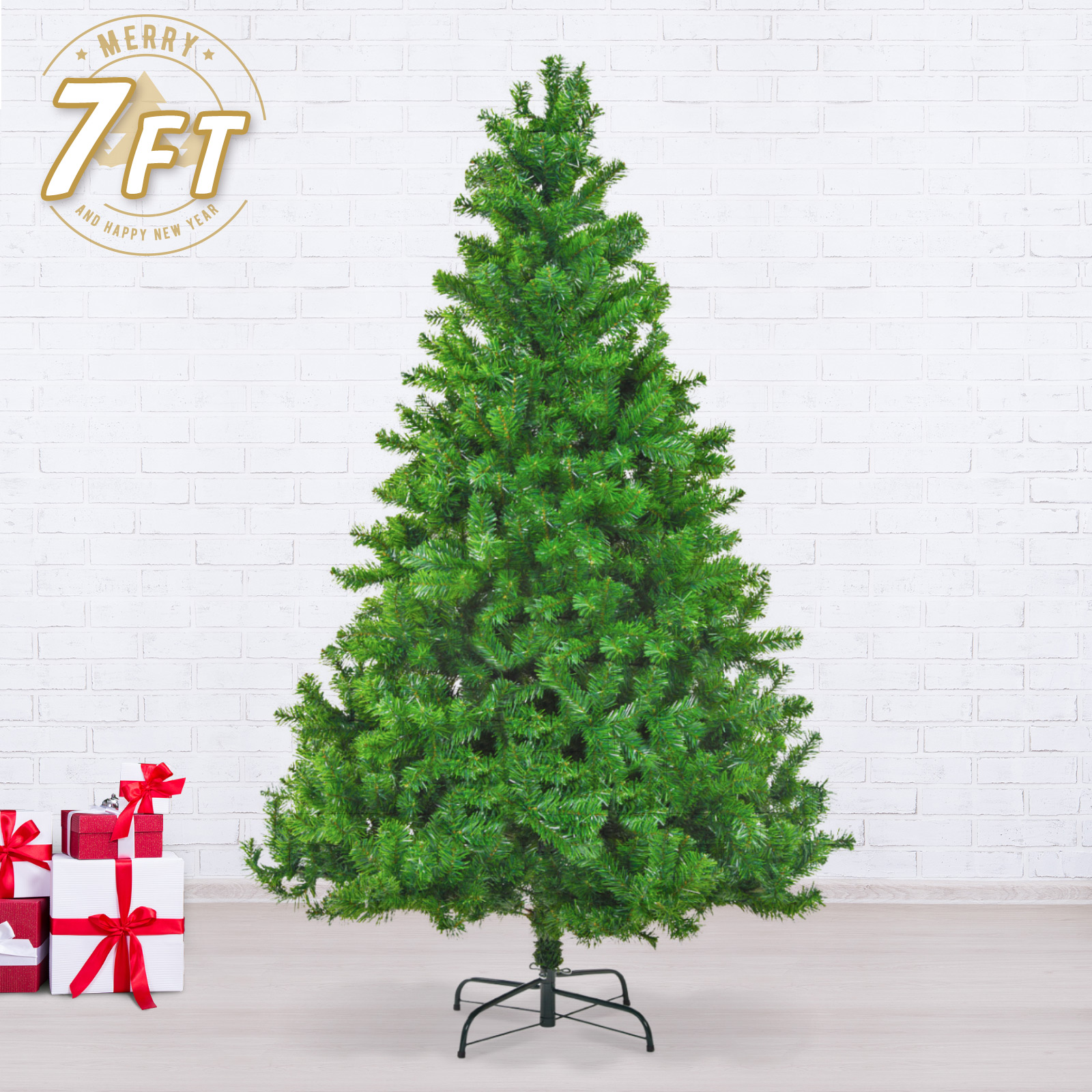 7Ft 210cm Green Artificial Xmas Tree