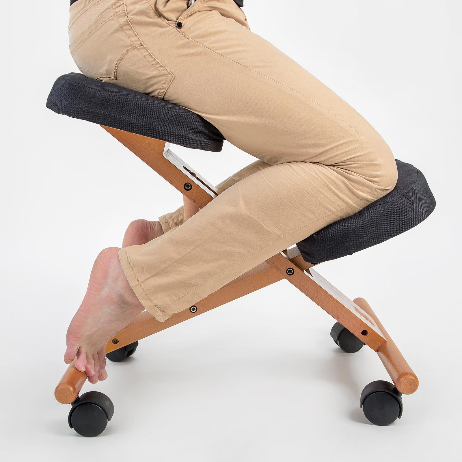 Ergonomic Kneeling Chair Black Forever Beauty